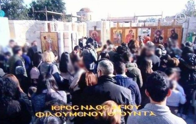 Συνωστισμός πιστών σε εκκλησία της Κύπρου