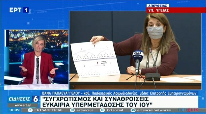 Παπαευαγγέλου για ρεβεγιόν: Αρκούν 8 λεπτά για να γίνει διασπορά του ιού σε σπίτι αν δεν φοράμε μάσκες