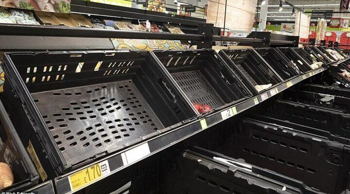 Μεγάλη Βρετανία: Φόβοι για χάος στην τροφοδοσία - Αδειάζουν τα ράφια στα σουπερμάρκετ